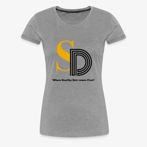 SD striped logo - Women's Premium T-Shirt