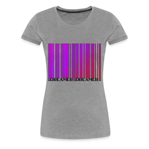 DREAMER Barcode (rainbow-black) - Women's Premium T-Shirt