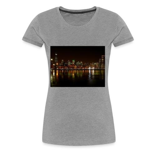 chicago skyline - Women's Premium T-Shirt
