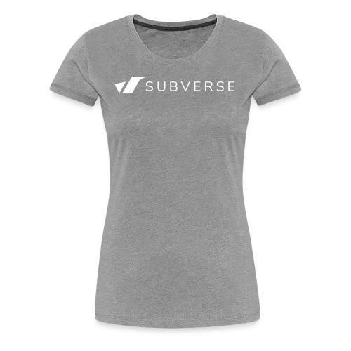 subverse logo - Women's Premium T-Shirt