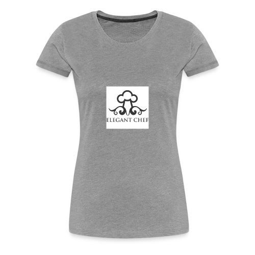 elegant chef hat ldesign - Women's Premium T-Shirt