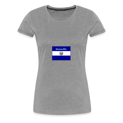 652fedbe86131b439e3b58ea82451d89 el salvador flag - Women's Premium T-Shirt
