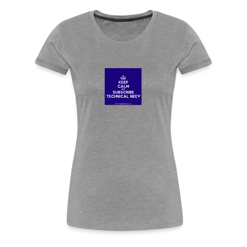 KeepCalm blue and white edition - Women's Premium T-Shirt
