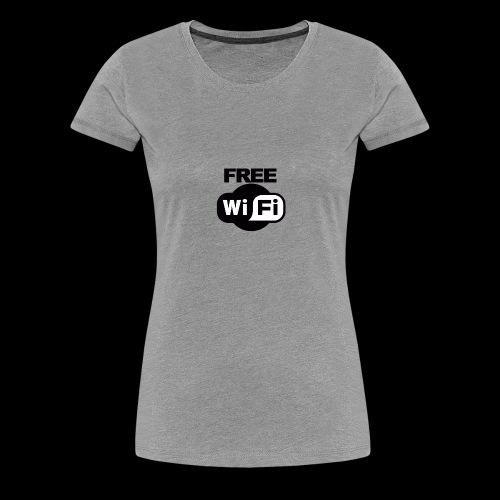 FREE WIFI - Women's Premium T-Shirt