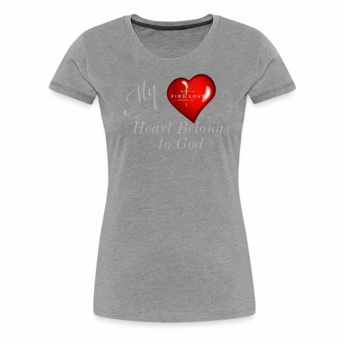 My Heart T Shirt White - Women's Premium T-Shirt