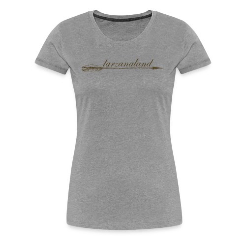 tarzanaland logo custom brown design - Women's Premium T-Shirt