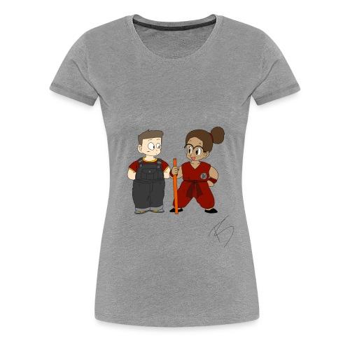 Goku style couple - Women's Premium T-Shirt