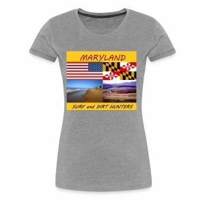 MARYLAND SURF AND DIRT HUNTERS LARGE LOGO - Women's Premium T-Shirt