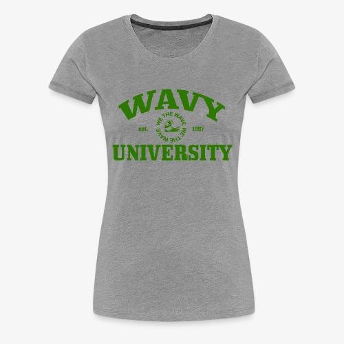 Wavy U (Green) - Women's Premium T-Shirt