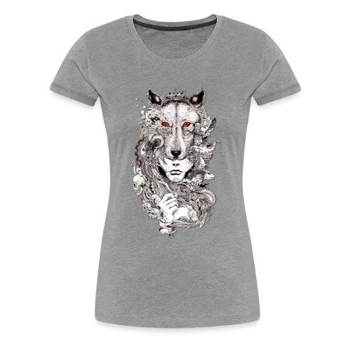 Wolf Lady - Women's Premium T-Shirt