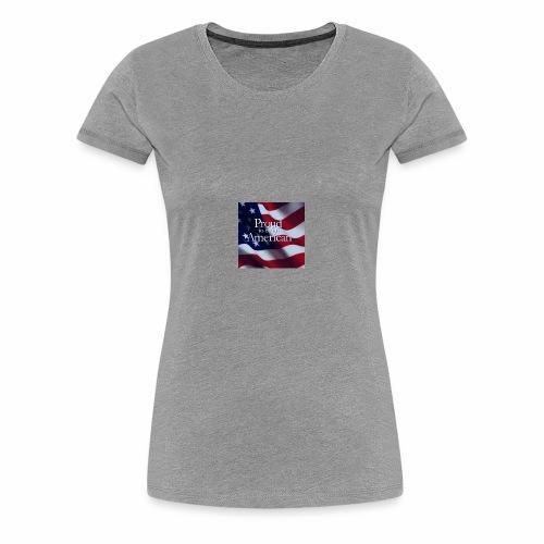 770764ed8cfed391ab7ad85ff8b8f2bb american flag am - Women's Premium T-Shirt