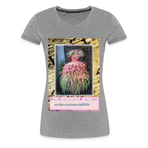 Flowery Gown - Women's Premium T-Shirt