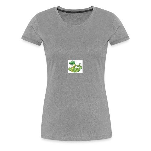 Cartoon snake - Women's Premium T-Shirt