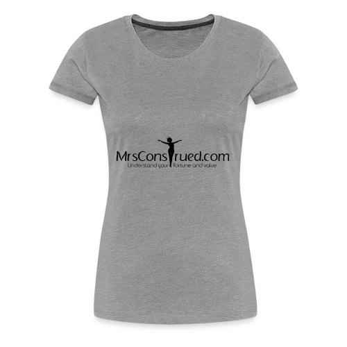 PNGMrsConstrued logo - Women's Premium T-Shirt