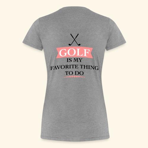 golfer - Women's Premium T-Shirt
