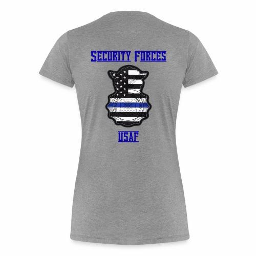 Security Forces Blue Line - Women's Premium T-Shirt