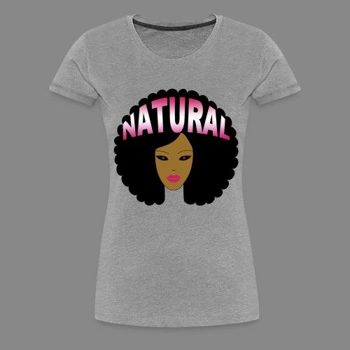 Natural Afro (Pink) - Women's Premium T-Shirt