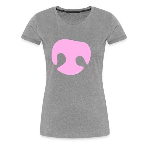 Pink Whimsical Dog Nose - Women's Premium T-Shirt