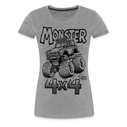 Monster Ford Bronco 4x4 - Women's Premium T-Shirt