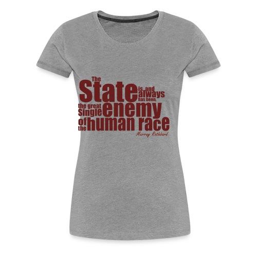 enemy human race rothbard zitat - Women's Premium T-Shirt