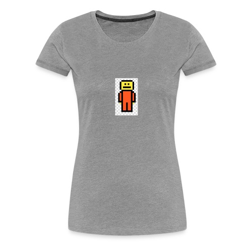 Pixel man[prison outfit] - Women's Premium T-Shirt