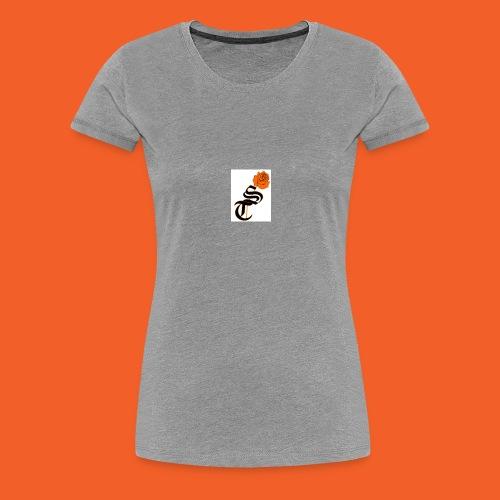 ST rose design - Women's Premium T-Shirt