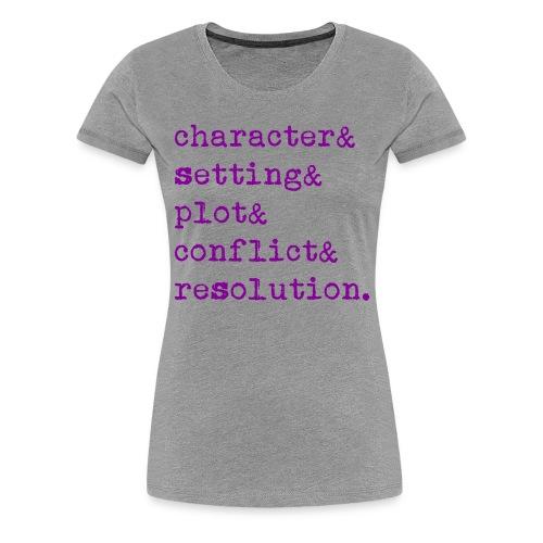 5 Elements of a Story - Women's Premium T-Shirt