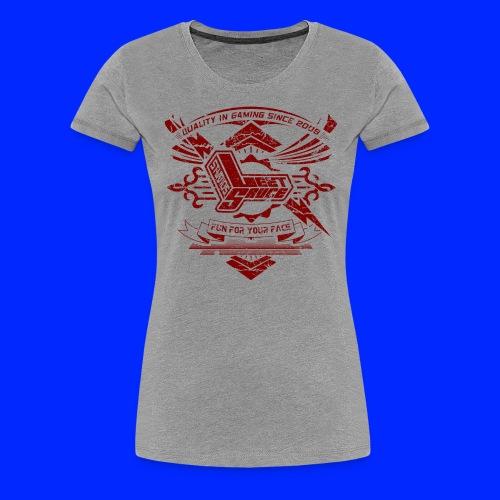 Vintage Leet Sauce Studios Crest Red - Women's Premium T-Shirt