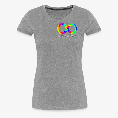 Neurodiversity with Rainbow swirl - Women's Premium T-Shirt