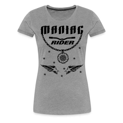 Maniac Rider Downhill Mountainbike bike-rider - Women's Premium T-Shirt