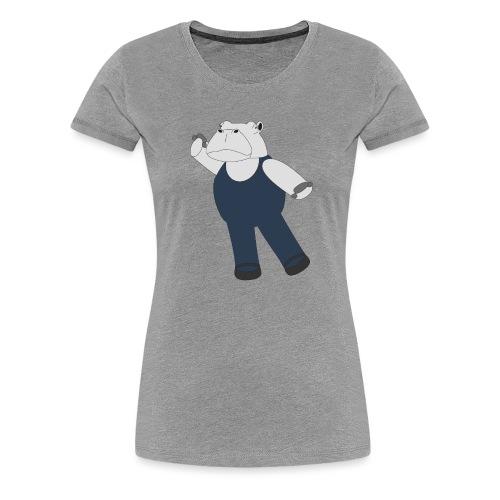 Hippo Ballet Dancer - Women's Premium T-Shirt