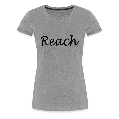 Classic Reach logo black - Women's Premium T-Shirt