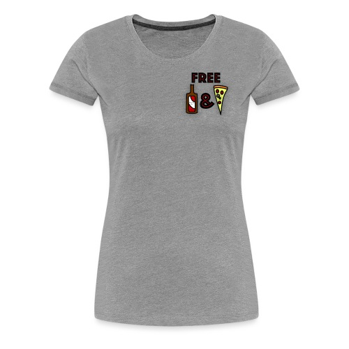 Free Beer and Pizza band logo - Women's Premium T-Shirt