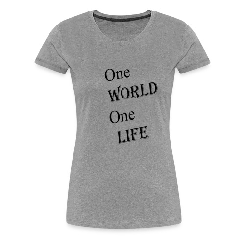 one world - Women's Premium T-Shirt