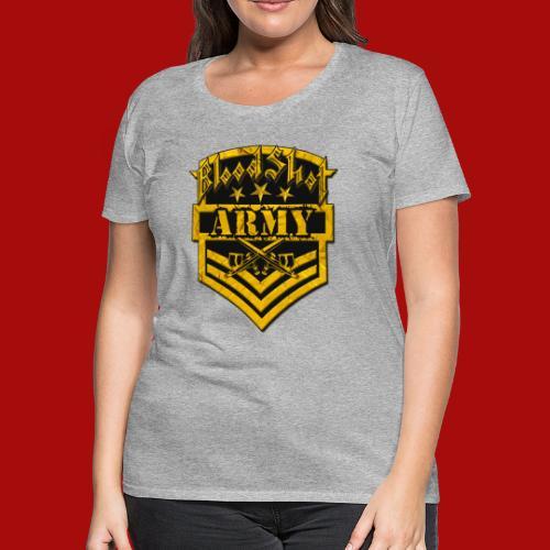 BloodShot ARMYLogo Gold /Black - Women's Premium T-Shirt