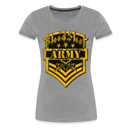 BloodShot ARMYLogo Gold /Black - Women's Premium T-Shirt