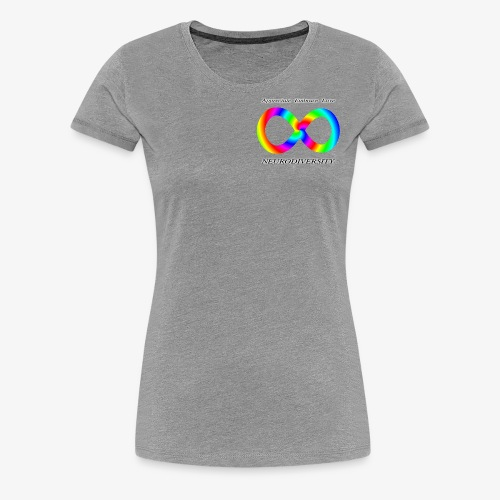 Embrace Neurodiversity with Swirl Rainbow - Women's Premium T-Shirt