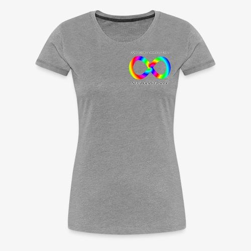 Embrace Neurodiversity with Swirl Rainbow - Women's Premium T-Shirt