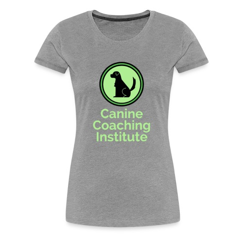 Canine Coaching Institute Logo with Light Green - Women's Premium T-Shirt