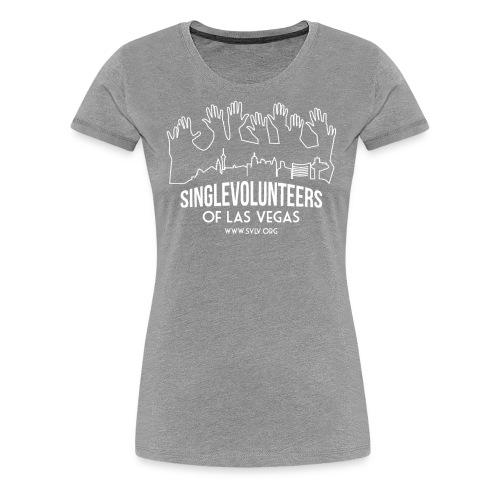 White logo SVLV - Women's Premium T-Shirt