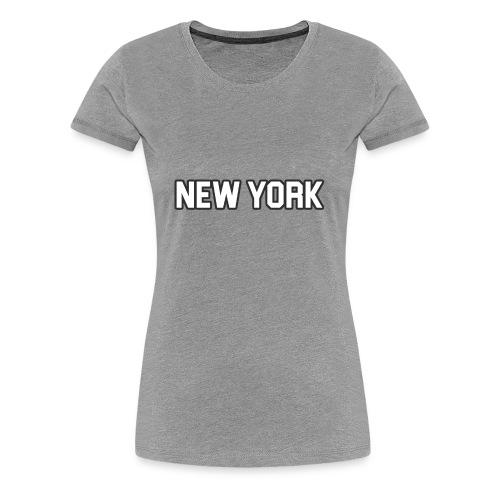 New York Yankee - White - Women's Premium T-Shirt