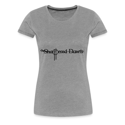 Shattered Dawn Black Logo - Women's Premium T-Shirt