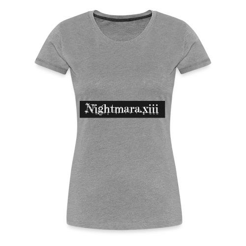 Nightmara logo written - Women's Premium T-Shirt