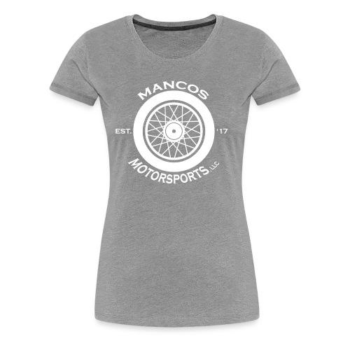 Mancos Motorsports LLC Logo in White - Women's Premium T-Shirt