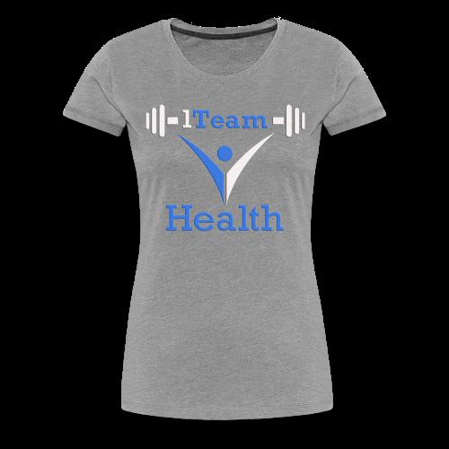1TH - Blue and White - Women's Premium T-Shirt