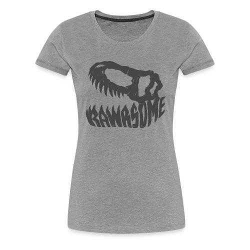 RAWRsome T Rex Skull by Beanie Draws - Women's Premium T-Shirt