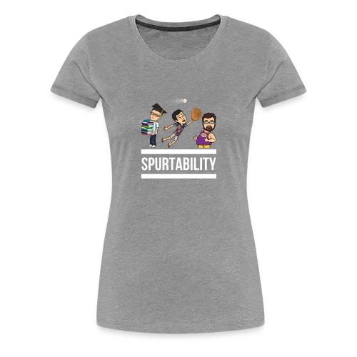Spurtability White Text - Women's Premium T-Shirt
