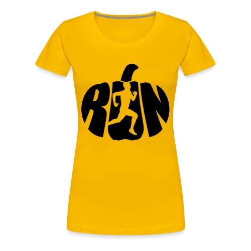 Halloween Running Pumpkin - Women's Premium T-Shirt