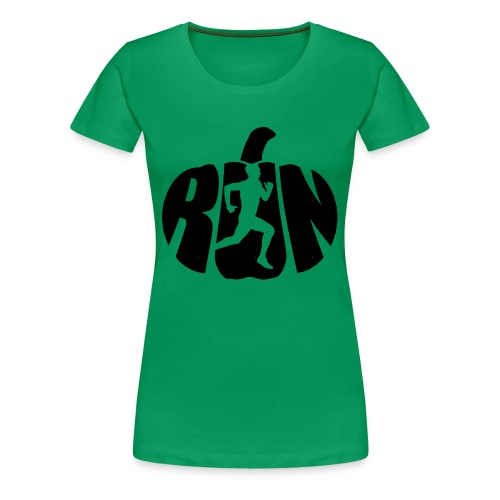 Halloween Running Pumpkin - Women's Premium T-Shirt