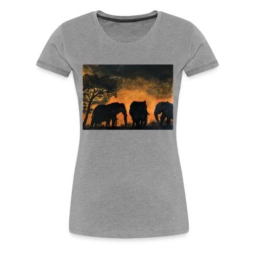 Elephants at sunset - Women's Premium T-Shirt